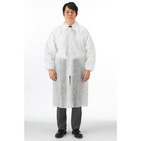 川西工業 使いきり不織布白衣 ホワイト L #7028 1袋(5着入)