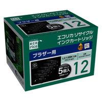 エコリカ リサイクルインク ECO-BR12B-5P ブラック5個パック 1パック(5個入)(ブラザー LC12BK互換)
