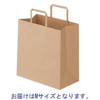 平紐手提袋 マチ広タイプ 茶 無地 M 1袋(50枚入) スーパーバッグ