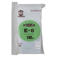 生産日本社 ユニパック0.08タイプ E-8  B7 100×140mm 0.08mm厚 1袋(200枚入)