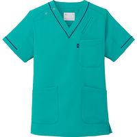 ミズノ ユナイト スクラブ(男女兼用) エメラルドグリーン L MZ0092 医療白衣 1枚 (取寄品)