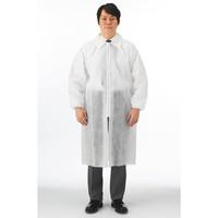 川西工業 使いきり不織布白衣 ホワイト L #7028 1セット(50着)