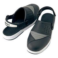 アイトス セーフティサンダル ブラック Sサイズ/24~24.5cm AZ59901-010-S (直送品)