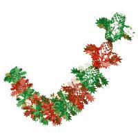 【クリスマス】飾り 柊ネットガーランド (店舗装飾・室内装飾・デコレーション) 1枚