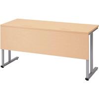 プラス TMユニットテーブル2  ホワイトメープル 幅1500×奥行600×高さ720mm 1台(2梱包) (取寄品)