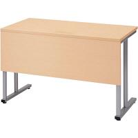 プラス TMユニットテーブル2  ホワイトメープル 幅1200×奥行600×高さ720mm 1台(2梱包) (取寄品)