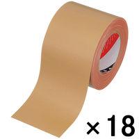 【ガムテープ】布粘着テープ No.141 0.37mm厚 100mm×25m 茶 オリーブテープ 寺岡製作所 1箱(18巻入)