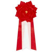 ササガワ 記章 リボンバラ 特大 赤 38-210 1箱(6個入) (取寄品)