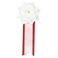 ササガワ 記章 リボンバラ 小白 38-242 1箱(20個入) (取寄品)