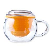ルピシア 茶こしマグ モンポット ・オレンジ 23360157