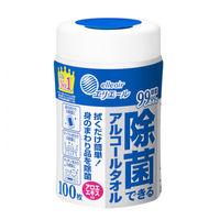 ウェットティッシュ アルコール除菌 本体 100枚入 エリエール除菌できるアルコールタオル 大王製紙