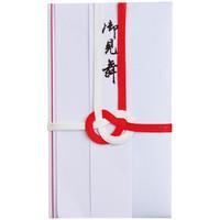 今村紙工 赤白7本御見舞 短冊2枚付 E5-652 1パック(5枚入)