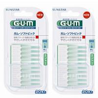 GUM ソフトピック ミント付き 2個