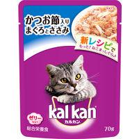 kalkan(カルカン) キャットフード パウチ かつお節入り まぐろとささみ 70g 1ケース(160袋入) マースジャパン