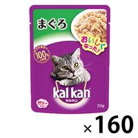 kalkan(カルカン) キャットフード パウチ まぐろ 70g 1ケース(160袋入) マースジャパン