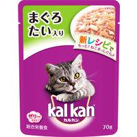 kalkan(カルカン) キャットフード パウチ まぐろとたい 70g 1ケース(160袋入) マースジャパン