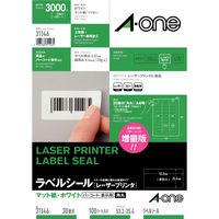 エーワン ラベルシール 表示・宛名ラベル レーザープリンタ マット紙 白 A4 30面 1袋(100シート入) 31146(取寄品)