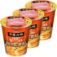 明星 中華三昧タテ型赤坂榮林酸辣湯麺3食