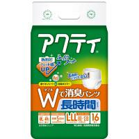 アクティ Wで消臭パンツ長時間タイプ L-LL 1パック(16枚入) 日本製紙クレシア