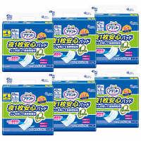 アテント 尿とりパッド 夜1枚安心(28cm×49cm) 夜用 男女共用 1箱(45枚入×6パック) 4回吸収 大王製紙