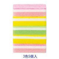 【キッチンスポンジ】泡キュット ソフトスポンジ アソートセット 1パック(5個入)
