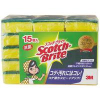 スコッチブライト 抗菌ウレタンスポンジたわし 1パック (15個入り) キッチンスポンジたわし スリーエム (3M) S-21KS 15PC