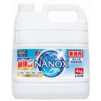 ライオン トップ スーパーNANOX(ナノックス)業務用4kg (注ぎ口ノズル付)