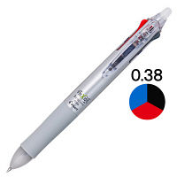 フリクションボール3 0.38mm シルバー LKFB-60UF-S パイロット 3色ボールペン
