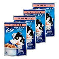 felix(フィリックス) キャットフード やわらかグリル 成猫用 ゼリー仕立て サーモン 70g 1セット(4袋) ネスレ日本