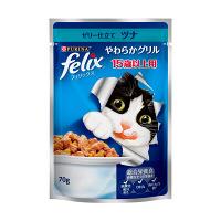 felix(フィリックス) キャットフード やわらかグリル 15歳以上用 ゼリー仕立て ツナ 70g 1ケース(60袋) ネスレ日本