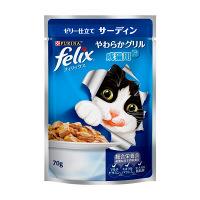 felix(フィリックス) キャットフード やわらかグリル 成猫用 ゼリー仕立て サーディン 70g 1ケース(60袋) ネスレ日本