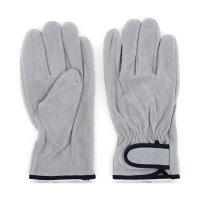 プロワーク 牛床皮手袋マジック付 L QC-310 1袋(1双入)