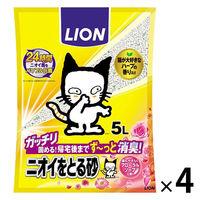 ケース販売 ライオン ペットキレイ ニオイをとる砂フローラルソープ 5L 1ケース(4袋)