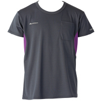 フットマーク×ファイテン 介護ウェア Tシャツ ダークグレー M (取寄品)