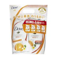 ダヴ(Dove) ボディウォッシュ(ボディソープ) スプラッシュ オレンジ&ティアフラワー 詰め替え 360g×4 ユニリーバ