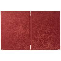 スマイル 光沢メニューファイル表紙 赤 P-735529