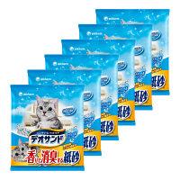 箱売デオサンド香り消臭する紙砂5L6袋