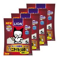ケース販売 ライオン ペットキレイ ニオイをとる砂 7歳以上用 鉱物タイプ 5L 1ケース(4袋)