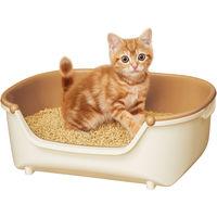 花王 ニャンとも清潔トイレ 子ねこ用セット アイボリー&オレンジ 1個