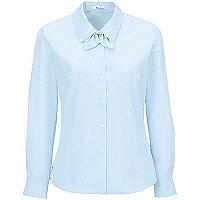 BON(ボン) 事務服 小さいサイズ 長袖ドビーストライプブラウス ブルー 7号 HW4125A (取寄品)