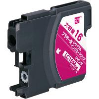 エコリカ リサイクルインク ECI-BR16M マゼンタ(大容量)(アスクル限定)(ブラザー LC16M互換) (取寄品)