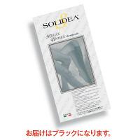トップ SOLIDEAストッキングRelaxUnisex(オープントウタイプ) 圧迫圧24~28hpa(18~21mmHg) ブラック L 1足(2本)