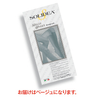 トップ SOLIDEAストッキングRelaxUnisex(オープントウタイプ) 圧迫圧24~28hpa(18~21mmHg) ベージュ L 1足(2本)