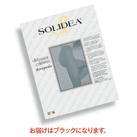 トップ SOLIDEAストッキングWonderModel(オープントウタイプ) 圧迫圧24~28hpa(18~21mmHg) ブラック S 1枚