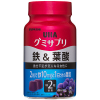 UHAグミサプリ 鉄&葉酸 ボトルタイプタイプ 30日分 UHA味覚糖 サプリメント