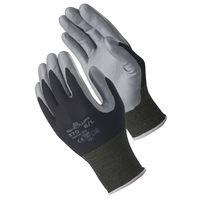 ニトリルゴム背抜き手袋 簡易包装組立グリップ M ブラック 5双 「現場のチカラ」 370 ショーワグローブ