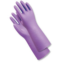 塩化ビニール手袋 簡易包装ナイスハンドミュー厚手 L バイオレット 5双 「現場のチカラ」 ショーワグローブ