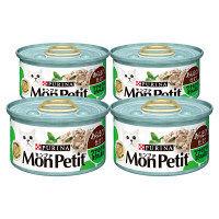 MonPetit SELECTION(モンプチ セレクション) キャットフード ツナのほうれん草添え 85g 1セット(4缶)