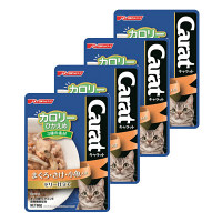Carat(キャラット) キャットフード パウチ カロリーひかえめ 3種の素材 まぐろ・さけ・小魚入り ゼリー仕立て 60g 1セット(4袋)