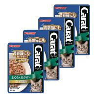 Carat(キャラット) キャットフード パウチ 高齢猫にも食べやすい細かめフレーク まぐろ&おかか スープ仕立て 60g 1セット(4袋)